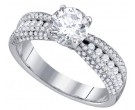 Ladies Diamond Engagement Ring 14K White Gold 1.00 ct. GD-70309
