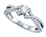 Diamond Engagement Ring 14K White Gold 0.56 cts. GD-70316