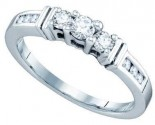 Ladies Diamond Engagement Ring 14K White Gold 0.35 cts. GD-70924