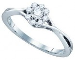 Ladies Diamond Engagement Ring 14K White Gold 0.28 cts. GD-72635