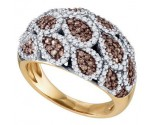 Cognac Diamond Fashion Ring 10K Rose Gold 1.09 cts. GD-72636