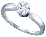 Ladies Diamond Engagement Ring 10K White Gold 0.25 cts. GD-72681