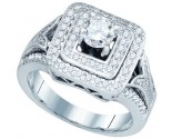 Ladies Diamond Engagement Ring 14K White Gold 1.00 ct. GD-73344