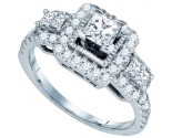 Ladies Diamond Engagement Ring 14K White Gold 1.24 cts. GD-73350
