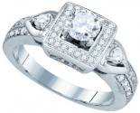 Ladies Diamond Engagement Ring 14K White Gold 1.00 ct. GD-73361