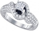 Ladies Diamond Engagement Ring 14K White Gold 0.85 cts. GD-73475