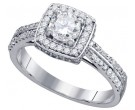 Ladies Diamond Engagement Ring 14K White Gold 1.00 ct. GD-74776
