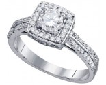 Ladies Diamond Engagement Ring 14K White Gold 1 Ct. GD-74776