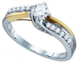 Ladies Diamond Engagement Ring 14K Gold 0.48 cts. GD-74778