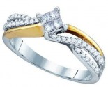 Ladies Diamond Engagement Ring 14K Gold 0.30 cts. GD-74779