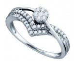 Ladies Diamond Engagement Ring 14K White Gold 0.33 cts. GD-74786