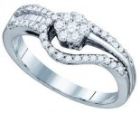 Ladies Diamond Engagement Ring 14K White Gold 0.48 cts. GD-74787