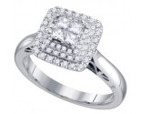 Diamond Engagement Ring 14K White Gold 0.52 cts. GD-74802