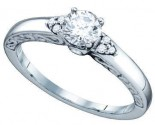 Ladies Diamond Engagement Ring 14K White Gold 0.48 cts. GD-74975
