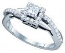 Diamond Engagement Ring 14K White Gold 0.50 cts. GD-75248