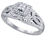 Diamond Engagement Ring 14K White Gold 0.51 cts. GD-75470