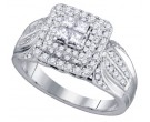 Diamond Engagement Ring 14K White Gold 0.75 cts. GD-75476