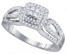 Diamond Engagement Ring 14K White Gold 0.50 cts. GD-75480