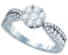 Ladies Diamond Engagement Ring 14K White Gold 0.98 cts. GD-76184