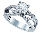 Diamond Engagement Ring 14K White Gold 0.94 cts. GD-76207