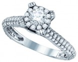 Ladies Diamond Engagement Ring 14K White Gold 1.33 cts. GD-76208