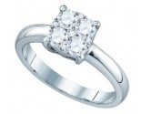Diamond Engagement Ring 18K White Gold 0.63 cts. GD-76766
