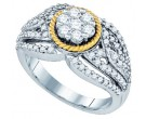 Diamond Engagement Ring 10K Two Tone Gold 0.94 cts. GD-79336