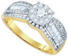 Diamond Engagement Ring 14K Yellow Gold 1.08 cts. GD-80847