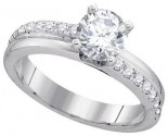 Diamond Engagement Ring 14K White Gold 1.29 cts. GD-84099