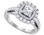 Diamond Engagement Ring 14K White Gold 2.00 ct. GD-86604