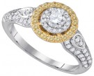 Ladies Diamond Engagement Ring 14K Gold 0.92 cts. GD-86645