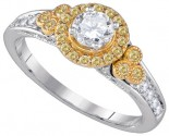 Ladies Diamond Engagement Ring 14K Gold 0.78 cts. GD-86649
