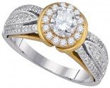 Ladies Diamond Engagement Ring 14K Gold 1.01 cts. GD-86657