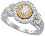 Ladies Diamond Engagement Ring 14K Gold 0.77 cts. GD-86665