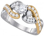 Ladies Diamond Engagement Ring 14K Gold 1.00 ct. GD-86716