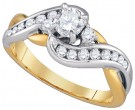 Ladies Diamond Engagement Ring 14K Gold 0.75 cts. GD-86718