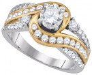 Ladies Diamond Engagement Ring 14K Gold 1.51 cts. GD-86724