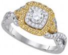 Ladies Diamond Engagement Ring 14K Gold 1.02 cts. GD-86973