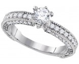 Diamond Engagement Ring 14K White Gold 1.25 cts. GD-91073
