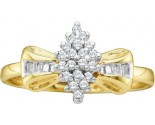 Ladies Diamond Cluster Ring 10K Yellow Gold 0.10 cts. GD-9368