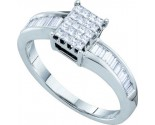 Ladies Diamond Engagement Ring 14K White Gold 0.50 cts. GD-9949