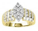 Diamond Engagement Ring 10K Two Tone Gold 1.00 ct. GS-20677