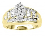 Diamond Engagement Ring 10K Two Tone Gold 1.00 ct. GS-20680