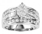 Diamond Engagement Ring 10K White Gold GS-20741