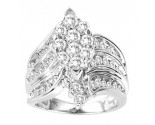 Diamond Engagement Ring 14K White Gold 2.25 cts. GS-20719
