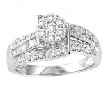 Diamond Engagement Ring 10K White Gold 0.80 cts. GS-20737