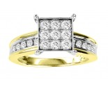 Diamond Engagement Ring 10K Two Tone Gold 0.80 cts. GS-20820