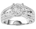 Diamond Engagement Ring 14K White Gold 1.50 cts. GS-21171