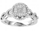 Diamond Engagement Ring 14K White Gold 1.00 ct. GS-21175