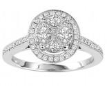 Diamond Engagement Ring 14K White Gold 0.85 cts. GS-21181